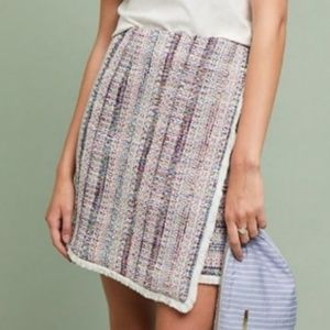 Anthropologie knit boucle skirt